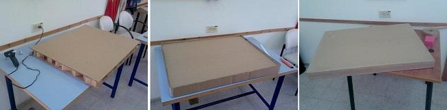 Заготовка столешницы из картона