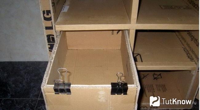 Ящики для комода из картона