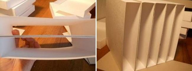 Перегородки из картона между полочками
