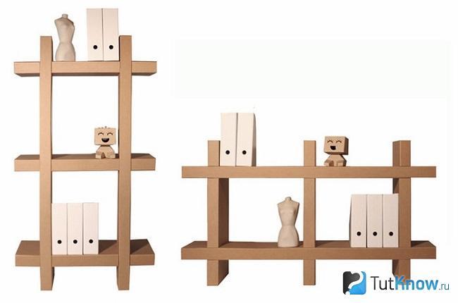 Полки из картона своими руками