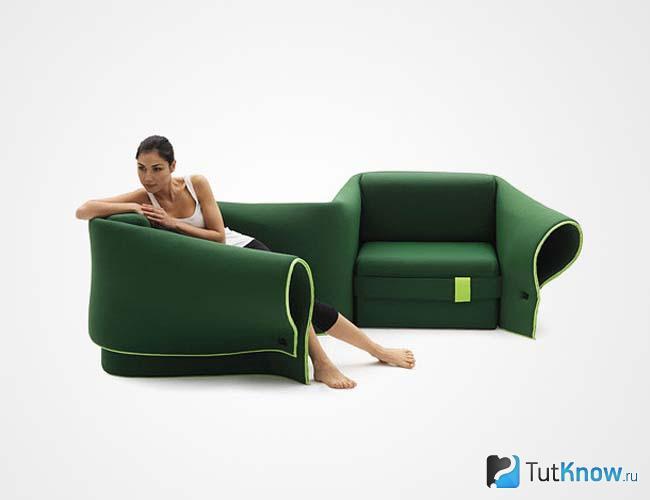 Самодельное бескаркасное кресло-трансформер