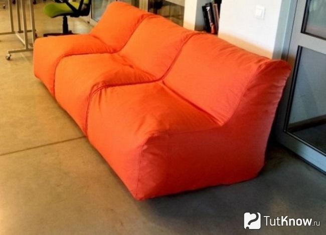 Бескаркасный диван своими руками