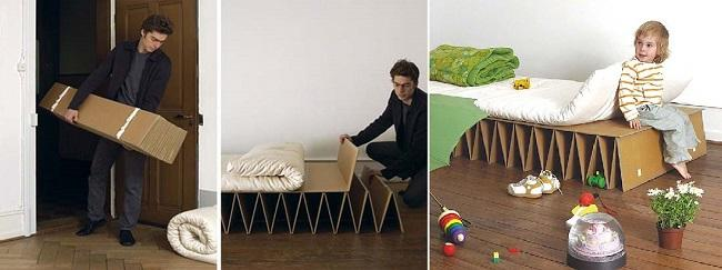 Создание бескаркасной кровати-книжки