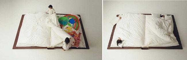 Бескаркасная кровать-книжка своими руками