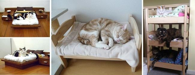 Полноценная кроватка для кота