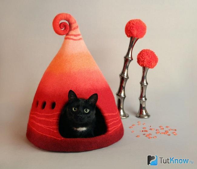 Необычный дизайн кошачьего дома