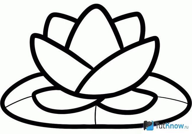 Чёрно-белый вариант цветка лотоса