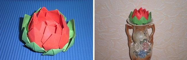 Дизайн готового бумажного лотоса