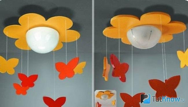 Люстра для детской комнаты своими руками мастер класс