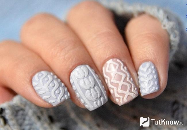 вязаный дизайн ногтей галерея вязаных изделий