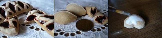 Украшение игрушечного печенья белой акриловой краской