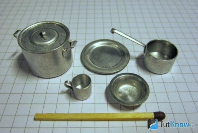 Готовый жестяной набор посуды для кукол