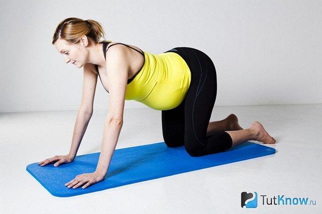 Гимнастика для беременных коленно-локтевая 34