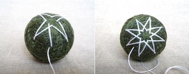 Восьмиконечная звезда на зеленом шаре