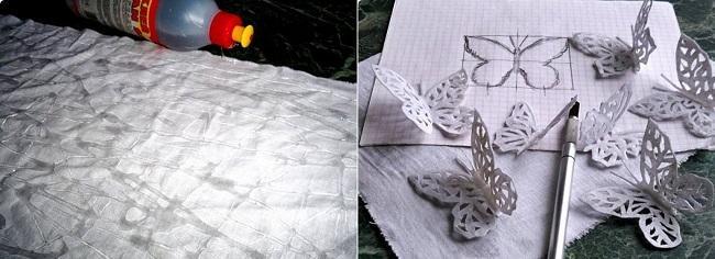 Заготовки-бабочки для украшения шкатулки