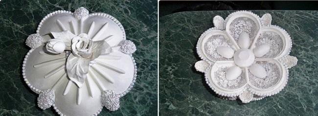Крышка для шкатулки покрыта белой матовой краской