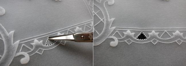 Вырезанный треугольник из заготовки