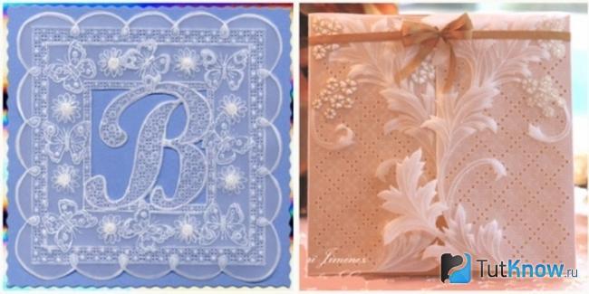 Две открытки с узорами