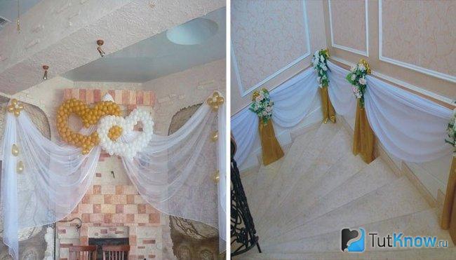 Элементы декора помещения для празднования ситцевой свадьбы