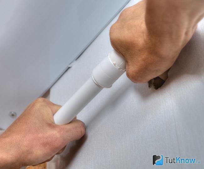 Как сделать водопровод способом склеивания
