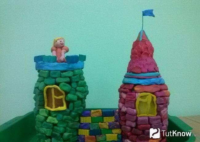 Пластилиновый замок своими руками