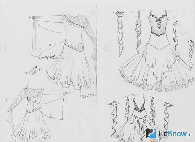 Заготовки для бального платья