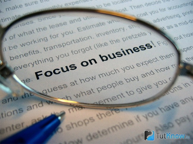 Focus on business